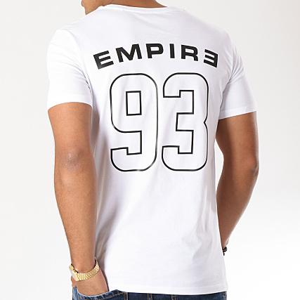 93 Empire Tee Shirt 93 Empire Dossard Blanc Noir