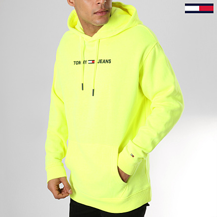 wide varieties look good shoes sale united kingdom Tommy Hilfiger Jeans - Sweat Capuche Small Logo 5146 Jaune ...