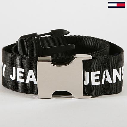 super mignon Conception innovante vente chaude pas cher Tommy Hilfiger Jeans - Ceinture Webbing 0360 Noir Blanc ...