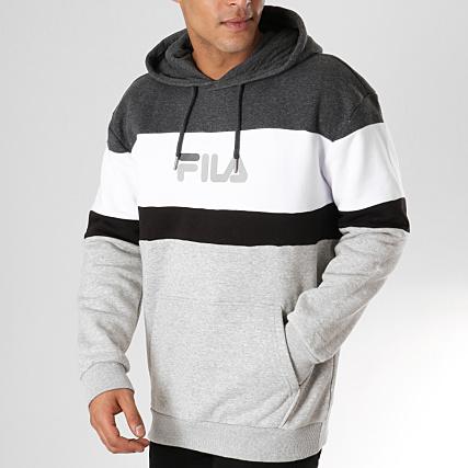 Sweat capuche fila gris taille XL