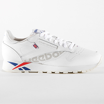 860a2d19dfabd Home   Reebok   Baskets - Chaussures   Baskets Basses   Reebok - Baskets Classic  Leather MU DV4629 White Dark Royal Red Grey