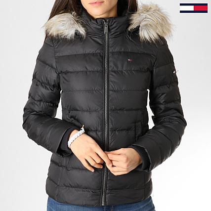 f68ca86ec Tommy Hilfiger Jeans - Doudoune Femme Fourrure Essential 4711 Noir ...