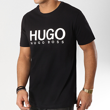 fbb4534e4 HUGO By Hugo Boss - Tee Shirt Dolive 50387414 Noir Blanc -  LaBoutiqueOfficielle.com