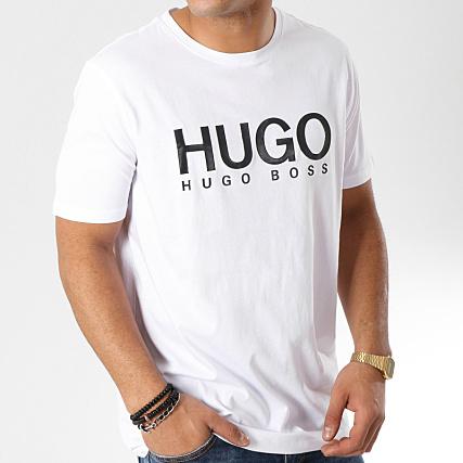 f08518a3a Home > HUGO by Hugo Boss > T-shirts > HUGO By Hugo Boss - Tee Shirt Dolive  50387414 Blanc Noir
