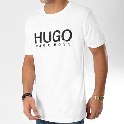 ecbdb9e50 HUGO By Hugo Boss - Tee Shirt Dolive 50387414 Blanc Noir -  LaBoutiqueOfficielle.com