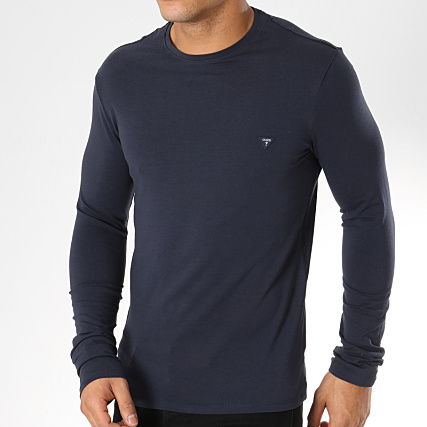 M91i33 Shirt J1300 Tee Longues Bleu Guess Manches Marine qIfvw7p