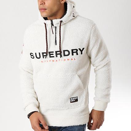 Superdry M20015ar Sherpa Fourrure Ecru Veste Outdoor HqTwHU