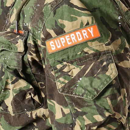 e3557317e Superdry - Veste Rookie Splatter Para M50013TQ Vert Kaki Camouflage ...