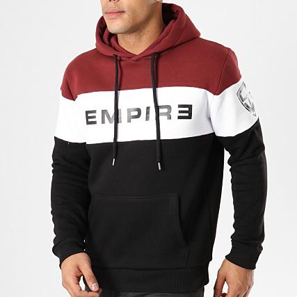 93 Empire Sweat Capuche 93 Empire Tricolore Noir Blanc
