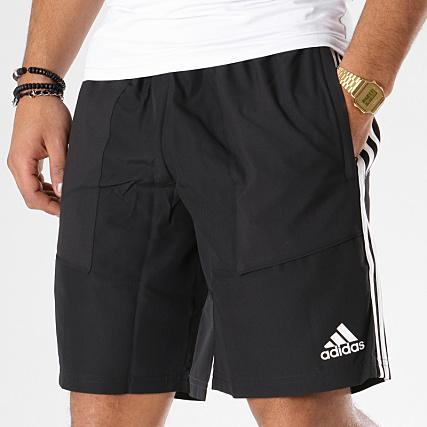 adidas Short Jogging Avec Bandes Tiro19 D95919 Noir Blanc