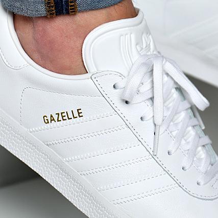 Gazelle Footwear Gold White Adidas Bb5498 Baskets Metallic