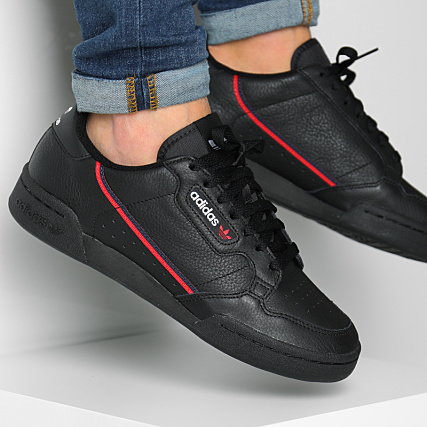 adidas Baskets Continental 80 G27707 Core Black Scarlet