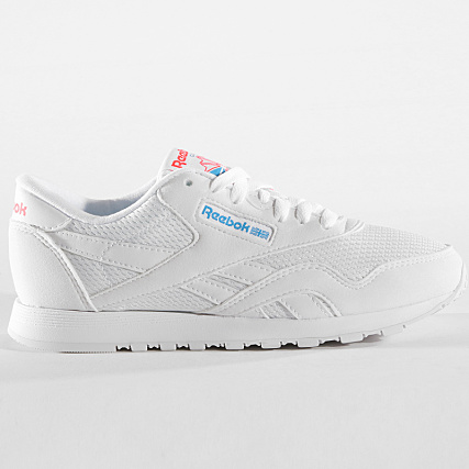 Red Neon Reebok White Blue Classic Txt Cn6684 Baskets Femme Nylon Yv6fbI7gy