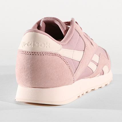 a3056ccb7ef24 Home   Reebok   Baskets - Chaussures   Baskets Basses   Reebok - Baskets  Femme Classic Nylon DV3634 Smoky Rose Pale Pink