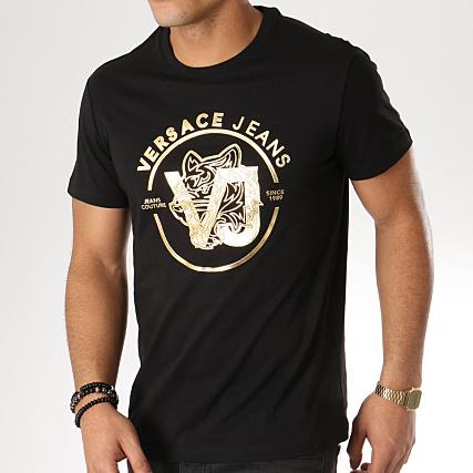 B3gta75h Shirt Jeans 30 Print Doré Tee Versace Noir Eqpw4Xxx