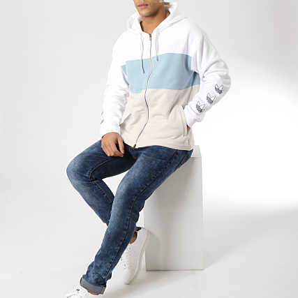 Zippé Clair Sweat Adidas Dv3143 Beige Blanc Capuche Bleu rxhdtQCs