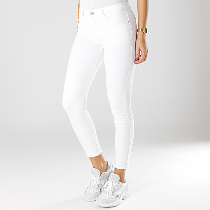 beaucoup de choix de plus de photos Réduction Girls Only - Jean Skinny Femme HU16565Q-1 Blanc ...