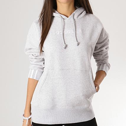 adidas - Sweat Capuche Femme Coeeze DU7185 Gris Chiné -  LaBoutiqueOfficielle.com 77621d78f8c