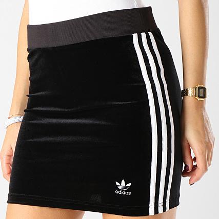 3 Blanc Adidas Femme Jupe Noir Stripes Dv2628 Velours dQrths