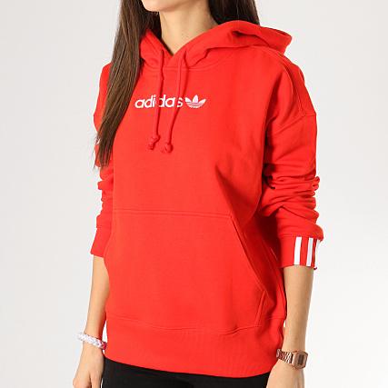 522f4caf5a adidas - Sweat Capuche Femme Coeeze DU7183 Rouge - LaBoutiqueOfficielle.com
