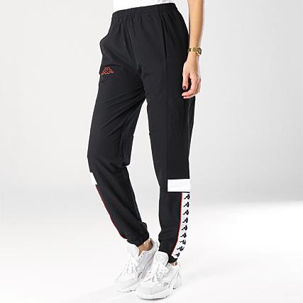 pantalons kappa noir survet femme