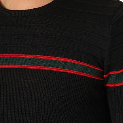 H Bandes Noir 53 Rouge Jp John A Pull Vert dvqwx