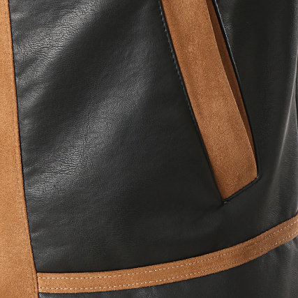 Zippée Col V21 Noir Uniplay Veste Mouton PZXOiku