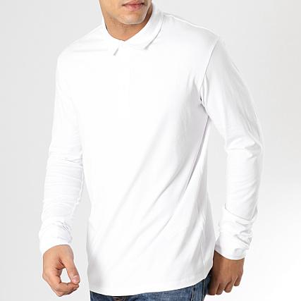 Polo Mepolopimi Blanc Celio Manches Longues 8m0vnwNO
