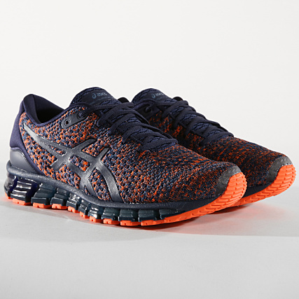 9b4c22addad Asics - Baskets Gel Quantum 360 Knit 2 T840N 403 Bleu Marine Orange -  LaBoutiqueOfficielle.com