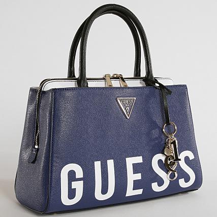 Accessoires Main Marine Guess Sacoches A Home Vl729106 Femme gt; Sacs Blanc Bleu Sac paEq6xq