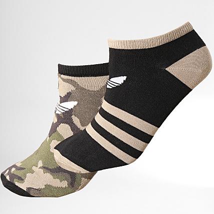 a9e01246b71 adidas - Lot de 2 Paires De Chaussettes Camouflage Liner DV1727 Noir Marron  Vert Kaki - LaBoutiqueOfficielle.com