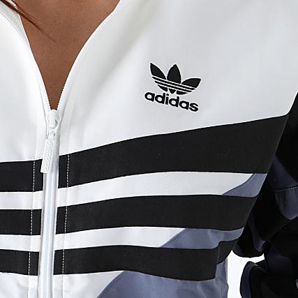 adidas Veste Zippée Femme Track Top DU8469 Blanc Mauve