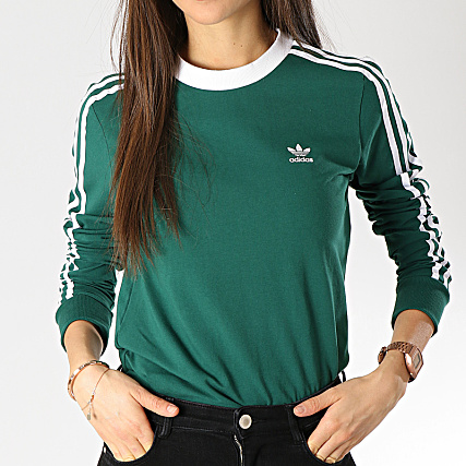 best shoes get new fresh styles adidas - Tee Shirt Manches Longues Femme 3 Stripes DV2601 ...