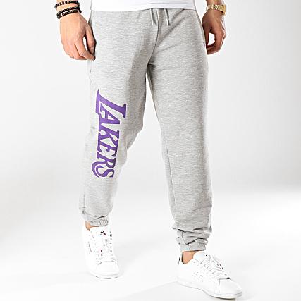 1a7f7d63b3f7 New Era - Pantalon Jogging Wordmark Los Angeles Lakers 11904438 Gris Chiné  - LaBoutiqueOfficielle.com