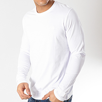 1917b36d48eb0 HUGO By Hugo Boss - Tee Shirt Manches Longues Derol 50393318 Blanc -  LaBoutiqueOfficielle.com