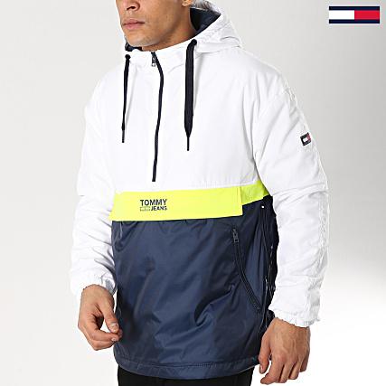 4190c53ef Tommy Hilfiger Jeans - Veste Outdoor Color Block Popover 5429 Bleu Marine  Blanc Jaune Fluo - LaBoutiqueOfficielle.com