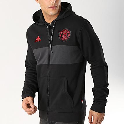 Dp2323 Manchester United Sweat Bandes Capuche Avec Adidas Zippé XuPiTOkZ