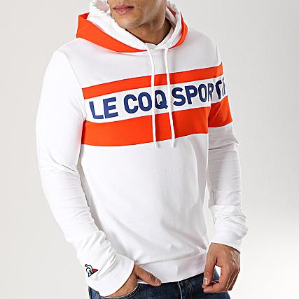 offrir des rabais bons plans 2017 france pas cher vente Le Coq Sportif - Sweat Capuche N2 1911309 Blanc Orange ...
