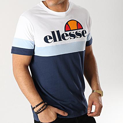 4ef1f1609842 Ellesse - Tee Shirt Tricolore 1031N Bleu Marine Bleu Clair Blanc -  LaBoutiqueOfficielle.com