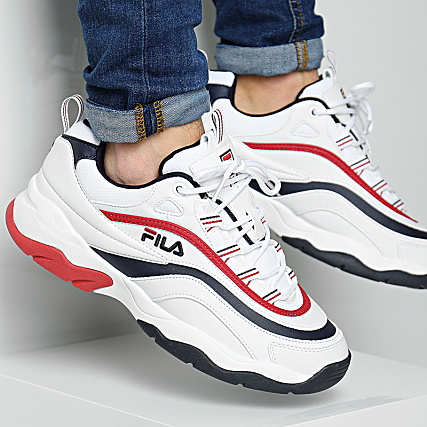 Fila Baskets Ray F Low 1010578 01M White Navy Red