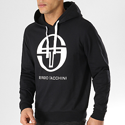 Sergio Tacchini Sweat Capuche Comma 38028 Noir