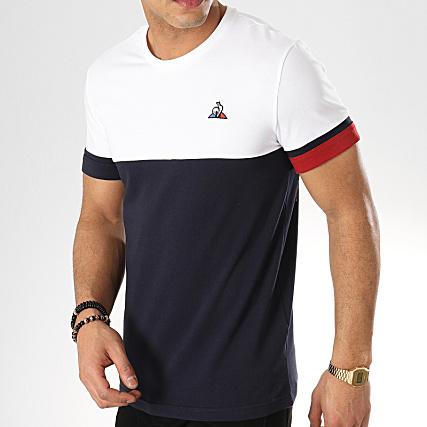 Le Coq Sportif Tee Shirt Tricolore N4 1910825 Blanc Bleu