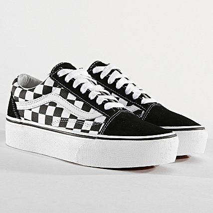 Vans - Baskets Femme Old Skool Platform 3B3U Black White ...