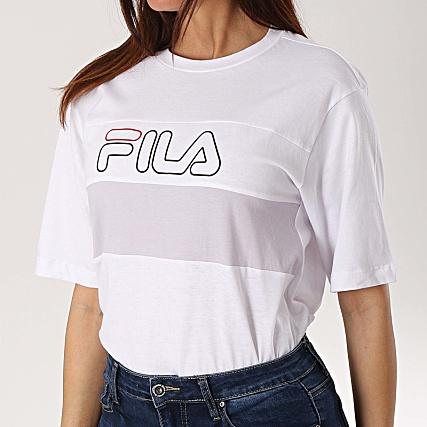 Lei Shirt Femme Tee Fila Blanc 682062 Lila hrtQCsdx