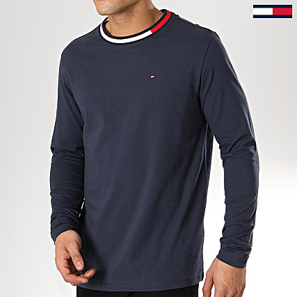 6eed49f32086 Tommy Hilfiger Jeans - Tee Shirt Manches Longues 1174 Bleu Marine -  LaBoutiqueOfficielle.com