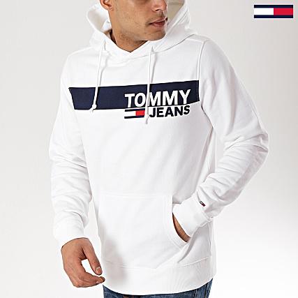 ecedd492 Tommy Hilfiger Jeans - Sweat Capuche Essential Graphic 6047 Blanc -  LaBoutiqueOfficielle.com