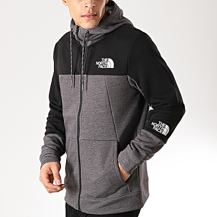 The North Face Sweat Zippé Capuche Mountain Lite 3RYW Gris