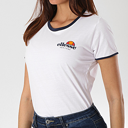 Femme Ellesse Tee Shirt 1074n Uni Blanc n0mN8w