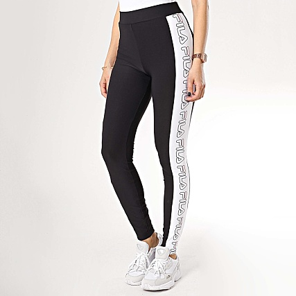 sweat fila rouge, fila leggings avec bande logo