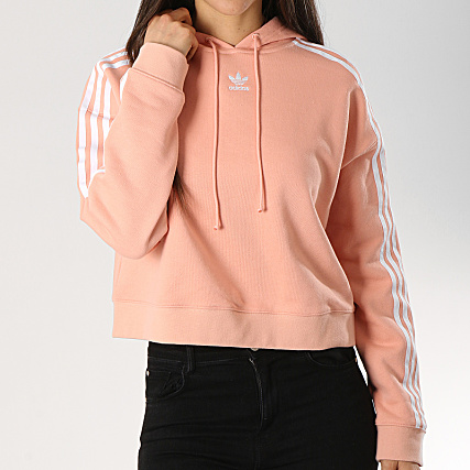 meilleures baskets 6ebaa a842d Dx2161 Crop Femme Adidas Sweat Capuche Rose zUVSMp